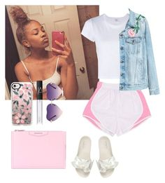 """""""K."""" by blended-try ❤ liked on Polyvore featuring RE/DONE, Puma, Casetify, NARS Cosmetics and Givenchy"""