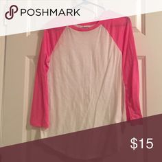PINK by VS quarter length tee comfortable PINK Victoria's Secret Tops Tees - Long Sleeve