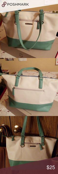 Tote Bag Cute tote bag. Mint & Cream Stone Mountain Accessories Bags Totes