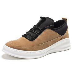Men Breathable Slip Resistant Lace Up Slip On Casual Shoes