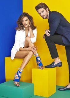 Cesare Paciotti SS16 campaign, starring Justice Joslin and Alessandra Ambrosio, shot by Mariano Vivanco.