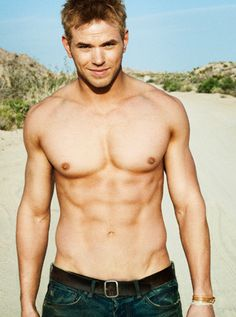 Kellan Lutz... You can hate Twilight but you can't hate that body and smile :)