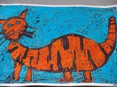 Greedy cat crayon and dye Cat Activity, Art School, School Stuff, Book Festival, Author Studies, Very Hungry Caterpillar, Book Activities, Cat Art, Literacy