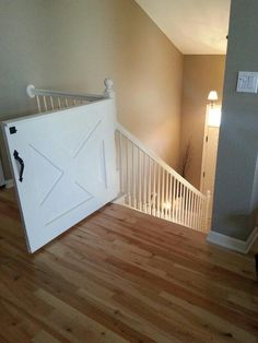 Now that we need baby gates I refuse to settle for anything less than this! The Perfect baby gate!