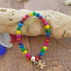 Check out this item in my Etsy shop https://www.etsy.com/listing/523074333/autism-awareness-beaded-bracelet-with