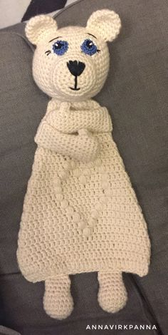 #crochet, free pattern (English and Swedish), amigurumi, ice bear, #haken, gratis patroon (Engels, Zweeds), amigurumi, lappenpop, ijsbeer, knuffel, #haakpatroon