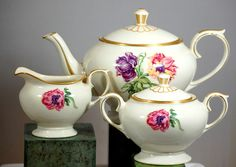 Lamberton Ivory China Tea Set Field Lily Pattern - Shop for Antiques, Vintage & Collectibles - The Vintage Village