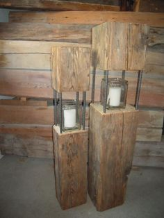 I have some lanterns made of old wood, some over 100 years old - Wood Design - I . - I have some old wood lanterns partly over 100 years old – Wood Design – I have some old wood la - Christmas Wood, Outdoor Christmas, Rustic Outdoor, Rustic Decor, Rustic Furniture, Diy Furniture, Furniture Online, Outdoor Furniture, Decoration Evenementielle
