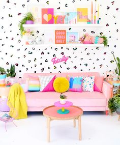 Learn how to use the Cricut Joy vinyl cutting machine to make your own DIY leopard print wall decals for a quick and colorful room upgrade. Room Colors, House Colors, New Room, Interior Design Inspiration, Decoration, Girls Bedroom, Wall Prints, Wall Decals, Wall Stickers