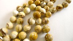 Brecciated Mookaite Jasper 15mm round beads by sparklelittle, $38.00