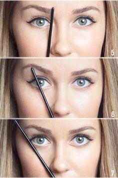 como dibujar el arco de tus cejas con lapices