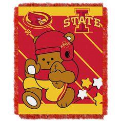 Iowa State Cyclones Gridiron Running Back Baby Blanket