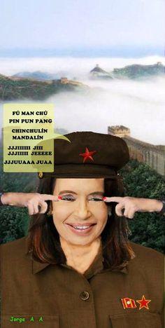 Cristina Kirchner haciendo gala de su buen humor y cultura