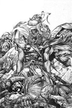 Mico Suayan - Thor 608 Original Cover Art - W.B.