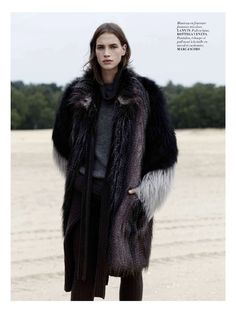 the monochrome set: crista cober by laurence ellis for l'officiel paris october 2014