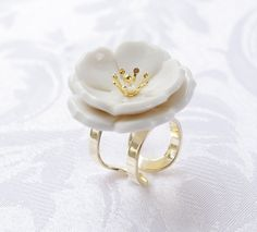 Browse Porcelain Plum Blossom Statement Ring and more from POPORCELAIN at Wolf & Badger - the leading destination for independent designer fashion, jewellery and homewares. Porcelain Clay, Porcelain Jewelry, Ginger Jars, Statement Rings, Bridal Jewelry, Jewelry Sets, Plum, Handmade Jewelry, Delicate
