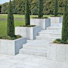 StoneFlair by Bradstone, Natural Granite Paving Silver Grey 600 x 600 - 40 Per Pack - Premium Natural Stone - Paving