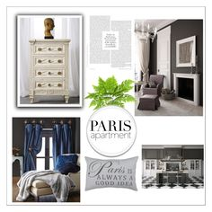 """Paris is Always a Good Idea!"" by nadiasknits ❤ liked on Polyvore featuring interior, interiors, interior design, home, home decor, interior decorating, 6009 Parker, Park B. Smith, paris and Home"