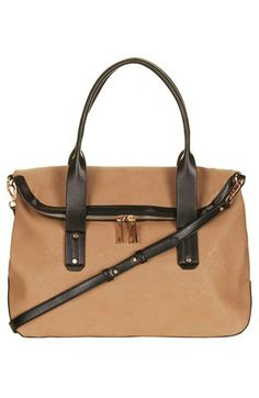 Topshop Foldover Faux Leather Holdall Bag available at #Nordstrom