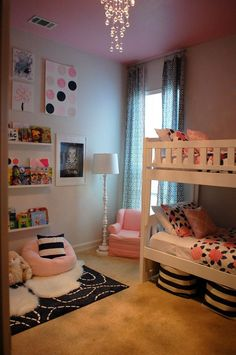 When you think firstly about modifying your daughter sleeping room, absolutely y. When you think firstly about modifying your daughter sleeping room, absolutely you will consider he Sister Room, Daughters Room, Girls Bedroom, Bedroom Decor, Bedroom Ideas, Bedroom Lighting, Trendy Bedroom, Bed Ideas, Nursery Ideas