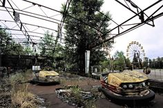 Chernobyl, it will take 4ever to heal the nature to it's original form after the nuclear accident in 1986