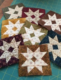 Lazy day around the house yesterday. I finished a few more Barn Stars. Eight done, eight more to go. These little blocks are so cute and fun to make. That tiny darker square in the center of each block is...