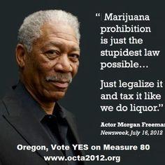 Marijuana Please support Oregon's Ballot Measure 80 Morgen Freeman. FHU