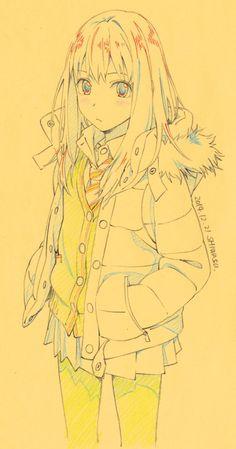 """シワスタカシさんはTwitterを使っています: """"前に描いた絵を貼っておこう。 #渋谷凛生誕祭 そのうち また描きたい。 http://t.co/USdDSsKeFx"""""""