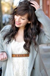 thick waves and bangs, love this but want it blonde