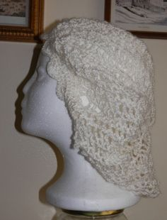 Beautiful Hand Crocheted Lacey Asbury Beret