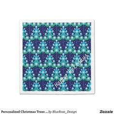 Shop Personalized Christmas Trees Pattern Napkins created by BlueRose_Design. Paper Napkins, Paper Plates, Christmas Tree Pattern, Christmas Trees, Christmas Napkins, Cocktail Napkins, Holiday Outfits, Holiday Treats, Colorful Backgrounds