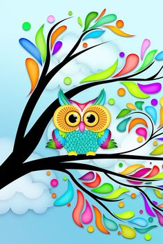 """Search Results for """"eule comic wallpaper"""" – Adorable Wallpapers Cute Owls Wallpaper, Tree Wallpaper, Cartoon Wallpaper, Wallpaper Ideas, Art Fantaisiste, Owl Always Love You, Owl Crafts, Owl Bird, Whimsical Art"""