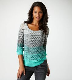 AE Ombre Open Stitch Sweater - so mermaidesque