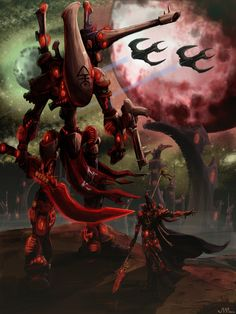 Eldar Wraithlord. Lock N Stock by Musibat-Khan.deviantart.com on @deviantART
