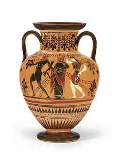 AN ATTIC BLACK-FIGURED AMPHORA ATTRIBUTED TO THE MANNER OF THE ANTIMENES…