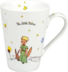 Written on each mug:'' The Little Prince'' and'' It is only with the Heart That One Can See well, what is essential is invisible to the eye.''