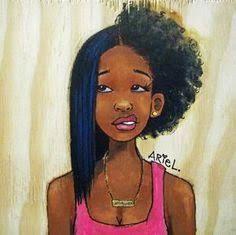 Resultado de imagem para desenhos de mulheres negras
