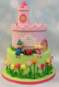 Ben and holly castle birthday celebration cake Ben And Holly Party Ideas, Ben And Holly Cake, Ben E Holly, Celebration Cakes, Birthday Celebration, 3rd Birthday, Birthday Parties, Birthday Ideas, Cakes To Make