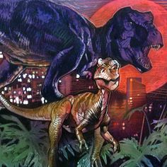 The Lost World / Jurassic Park (1997) by Drew Struzan (detail).