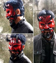 Life Size Japanese Noh Style Uncle Oni Mask 324 Free Papercraft Download - http://www.papercraftsquare.com/life-size-japanese-noh-style-uncle-oni-mask-324-free-papercraft-download.html#LifeSize, #Mask, #UncleOniMask