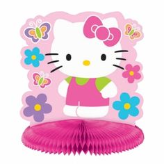 Rêves & Merveilles Hello Kitty table centerpiece / Centre de table Hello Kitty