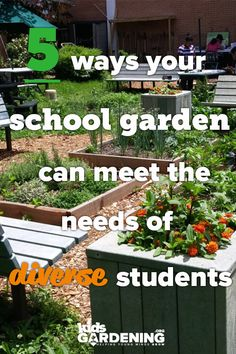 5 ways to meet the needs of all learning styles and abilities with a school garden. garden projects Garden How-to: Design a Garden that Honors Individuality and Fosters Connection - KidsGardening Gardening For Beginners, Gardening Tips, Pallet Gardening, Fairy Gardening, Outdoor Learning Spaces, Outdoor Spaces, Cucumber Trellis, Sensory Garden, Outdoor Classroom