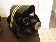 Up-cycled vinyl/LP (record) wine rack I made.  :)