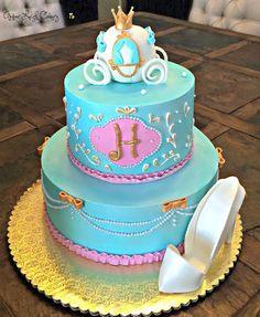 Cinderella Bridal Shower Cake