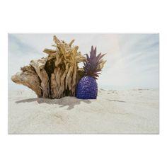 Beach | Sky | Pineapple Poster - beautiful gift idea present diy cyo
