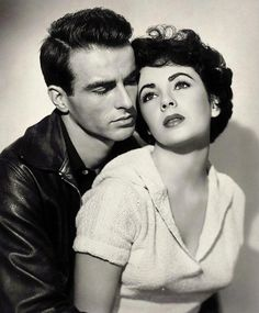 "connoisseur vintage — Montgomery Clift, Elizabeth Taylor in ""A Place in..."