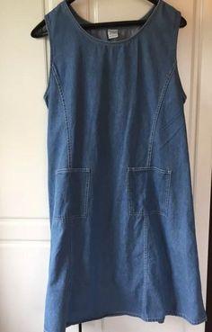 Denim Jazz Modest Jumper, Dress Size L, Front Pockets No Slits, Blue Denim #DenimJazz