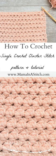How To Crochet the Single Crochet Cluster Stitch – Mama In A Stitch