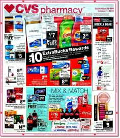 cvs ad for 09/25 - 10/01!  view it here:  http://www.iheartcvs.com/2016/09/0925-1001.html  #cvs #coupons #couponing #couponcommunity #deals
