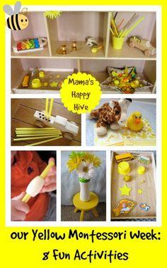 Montessori Toddler Study of Yellow - www.mamashappyhive.com